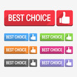 Best choice label, flat design