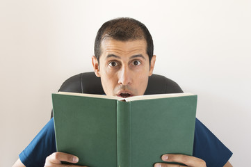 man surprised by what you are reading