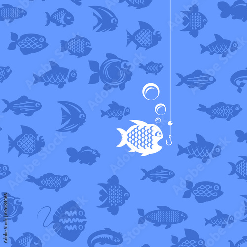 Fishing. Vector illustration