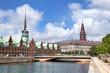 Blick auf Alte Börse und Schloss Christiansborg, Kopenhagen