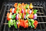 Fresh Sweet Pepper and Onion Kabobs