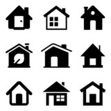 Black Home Icons