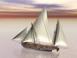 Old battle ship - 3D Render