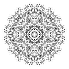 Lacy ethnic ornament in a circle