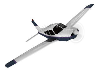 Small modern passanger airplane