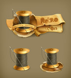 Spool of thread, icon