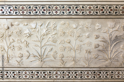 Taj Mahal, detail from the wall