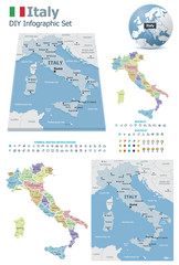 Italy maps with markers