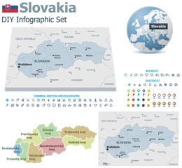 Slovakia maps with markers
