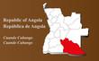 Постер, плакат: Angola Cuando Cubango hervorgehoben