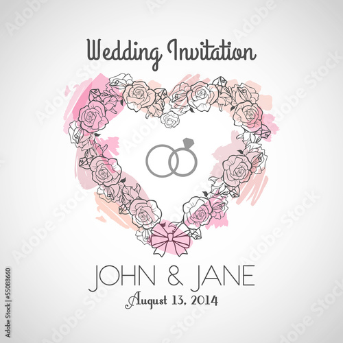 Heart Wedding Invitation