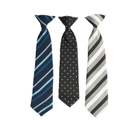 men's necktie isolated