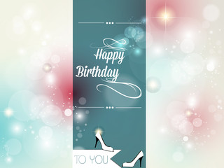 Happy birthday card retro vintage.