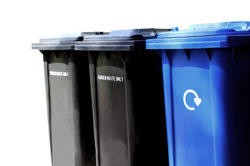 Recycling waste bins