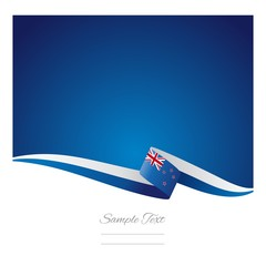 New Zealand flag abstract color background vector