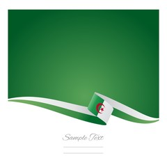Algerian flag abstract color background vector