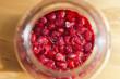 raspberries in jar