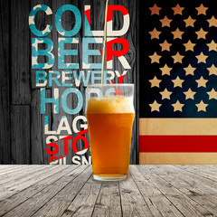 Fresh cold beer given in chilled pint