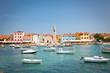 Harbor with boats in the city Fazana - Croatia