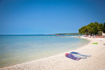 Beach in Fazana. Istria, Croatia