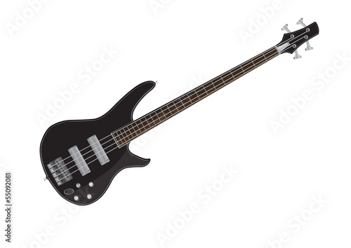 electric bass guitar vector images