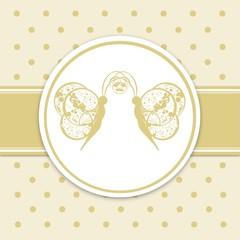 Grußkarte Schmetterlingmotiv - Vintage