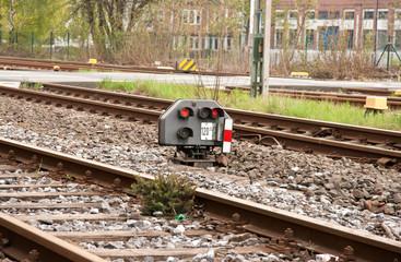 Lichtsignal bei Eisenbahn
