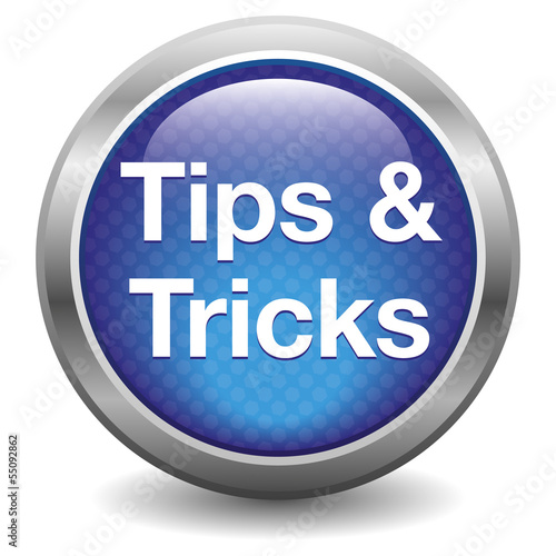 Tips & tricks icon. blue