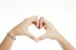 Heart hand sign