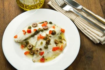 filetto di orata alle olive