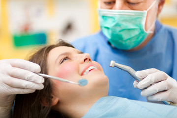 Dentist doing a treatment