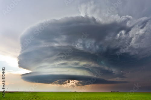 Severe thunderstorm in the Plains