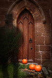 Church Door At Halloween