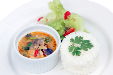 Brown Spotted Groupe Tom Yam (Thai cuisine), fish