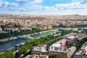 panorama di parigi dalla torre eiffel