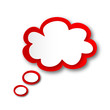 Thought Bubble Icon (speech balloon dream blank template button)