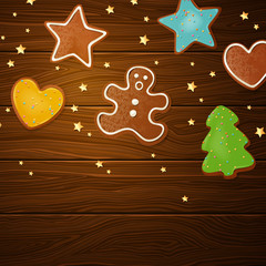 Vector Illustration of Different Christmas Pastries