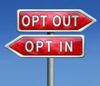 opt in or out