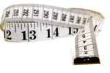 Measure tape. Isolated over white