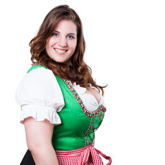 junge Frau in Tracht