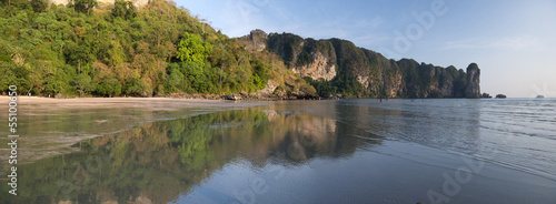 Ao Nang beach's reflections