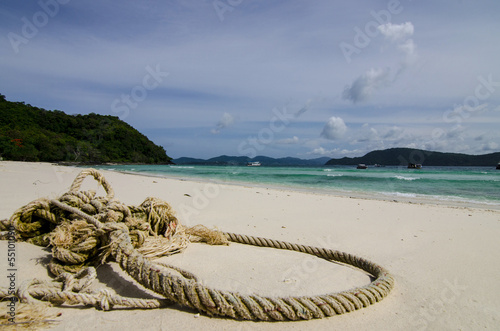 rope on beach
