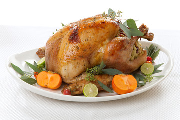 Tropical Roasted Turkey on white