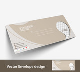 Ice Cream Shop envelope templates for your project design