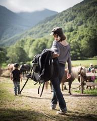 A l'équitation