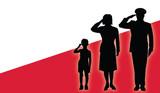 Fototapety Poland soldier family salut