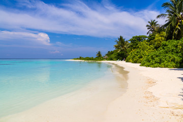 Scenery of the beach,Maldives