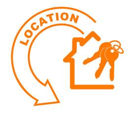 location maison flèche orange
