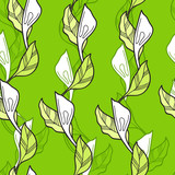 foliate seamless pattern