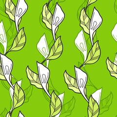 foliate seamless pattern